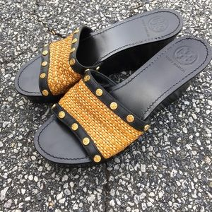 Tory Burch wedge sandals heels size 9M